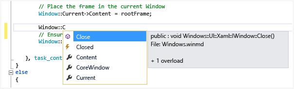 تکمیل کد توسط IntelliSense در ویژوال استودیو
