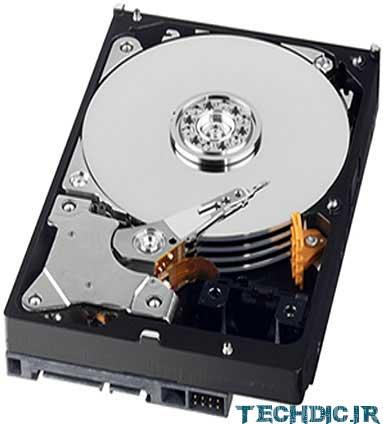 نمایی از فضای داخل یک هارد دیسک Hard Disk