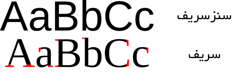سریف و سنزسریف serif و sans-serif