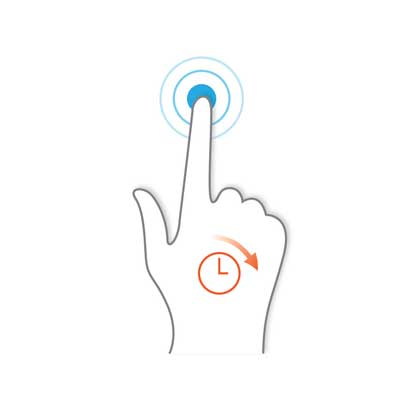 حرکات ابزارهای اشاره گر Pointing Device Gestures - فشار طولانی Long Press
