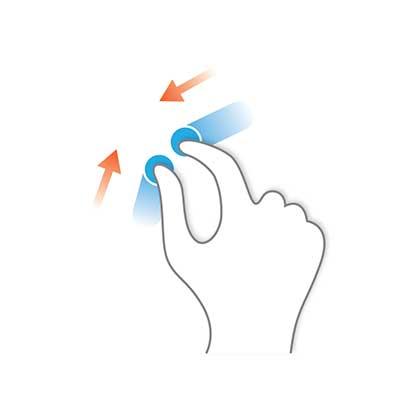 حرکات ابزارهای اشاره گر Pointing Device Gestures - نیشگون Pinch
