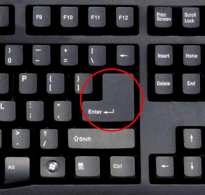 کلید اینتر - کلید ریترن Enter Key - Return Key