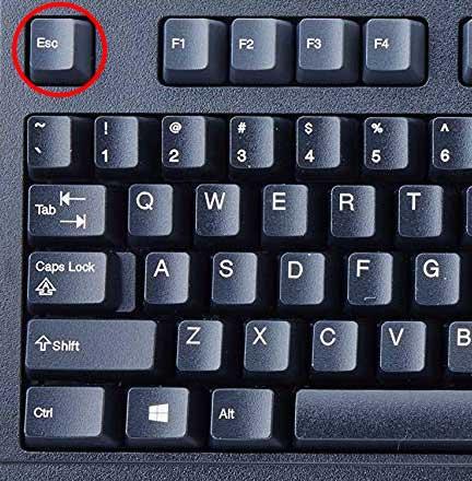 کلید Esc یا Esc Key