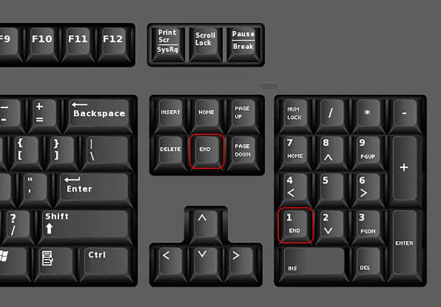 کلید End یا End Key