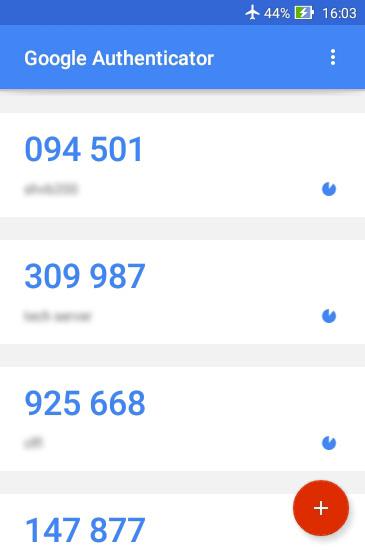 رمز یکبار مصرف در Google Authenticator