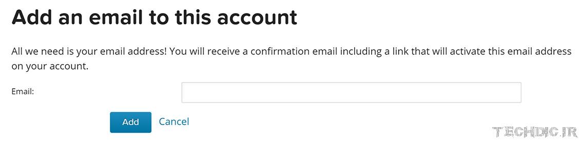 افزودن ایمیل جدید در گراواتار