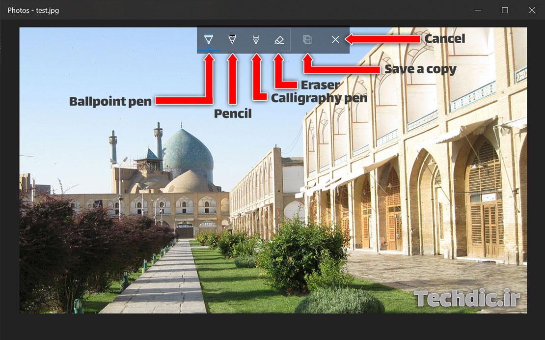 رسم روی تصویر و عکس در اپلیکیشن Photos ویندوز 10