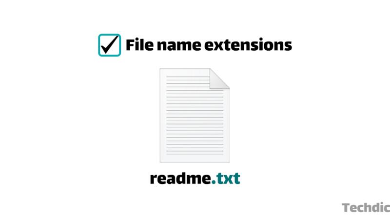 آموزش نحوه نمایش پسوند فایل ها در ویندوز
