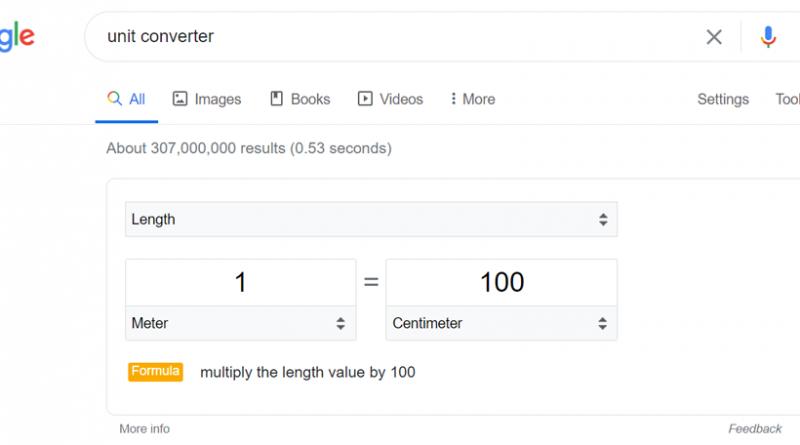 تبدیل واحد با کمک سرویس جستجوی گوگل