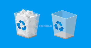آیکن سطل زباله - سطل آشغال - سطل بازیافت - زباله دان - Trash - Recycle Bin
