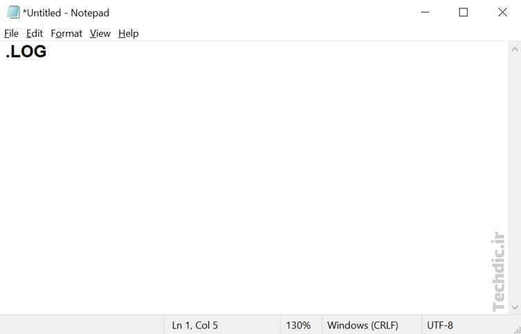ثبت گزارش و وقایع یا ایجاد دفتر خاطرات با کمک مایکروسافت نوت پد