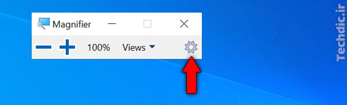 آشنایی با ابزار ذره بین (یا Magnifier) در ویندوز برای بزرگنمایی محتوای صفحه - ورود به تنظیمات Magnifier