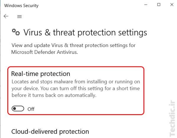 غیرفعال کردن یا خاموش کردن موقت مایکروسافت دیفندر (Microsoft Defender) در ویندوز 10